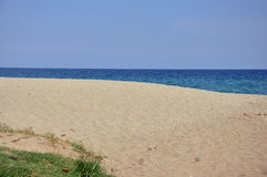 Praia arenosa vazia Foto de Stock