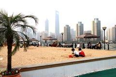 Praia artificial Imagens de Stock Royalty Free