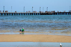 A praia australiana Foto de Stock