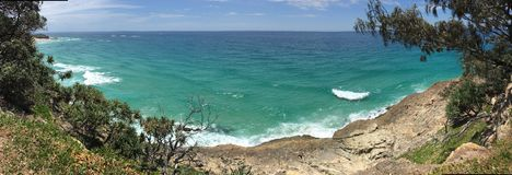Praia australiana do verão fotografia de stock
