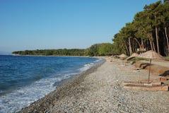 Praia azul Fotos de Stock Royalty Free