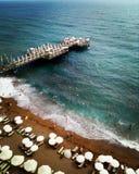Praia azul Imagens de Stock Royalty Free