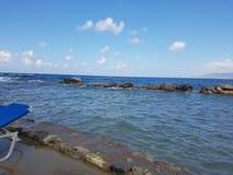Praia azul do vadio Fotografia de Stock Royalty Free