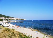 Praia búlgara Imagem de Stock