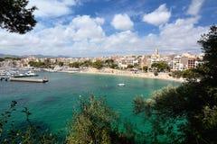 Praia Balearic Island de Porto Cristo Mallorca Fotografia de Stock