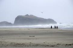 Praia Bandon Oregon da rocha da cara Fotos de Stock