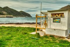 Early Spring at Marco`s Beach Bar royalty free stock image
