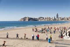 Praia Benidorm Fotografia de Stock