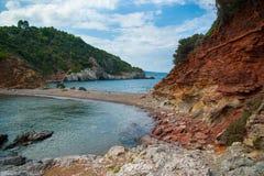 Praia bonita da ilha de Evia Fotos de Stock