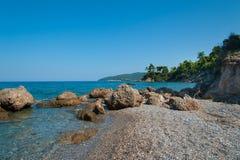 Praia bonita da ilha de Evia Imagens de Stock Royalty Free