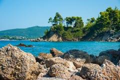 Praia bonita da ilha de Evia Foto de Stock Royalty Free