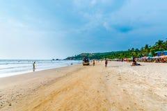 Praia bonita de Arambol Fotos de Stock
