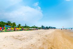Praia bonita de Arambol Foto de Stock Royalty Free