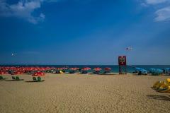 Praia bonita de Haeundae, Busanm, Coreia Imagens de Stock