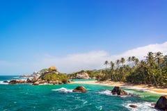Praia bonita de Tayrona Fotografia de Stock Royalty Free