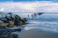 Praia bonita em Bridport, Tasmânia, Austrália Fotos de Stock