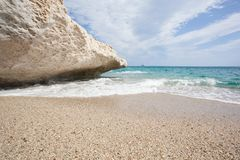 Praia bonita em Cala Luna, Sardinia Foto de Stock Royalty Free