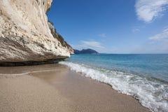 Praia bonita em Cala Luna, Sardinia Fotos de Stock Royalty Free