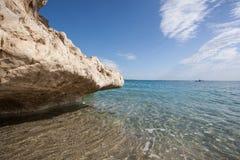 Praia bonita em Cala Luna, Sardinia Imagem de Stock Royalty Free