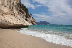Praia bonita em Cala Luna, Sardinia Foto de Stock