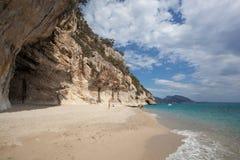 Praia bonita em Cala Luna, Sardinia Imagens de Stock Royalty Free