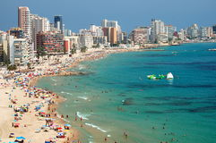 Praia bonita em Calpe, Spain fotografia de stock