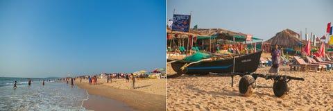 Praia bonita em Candolim Imagens de Stock Royalty Free