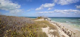 A praia bonita em Cuba Imagens de Stock Royalty Free