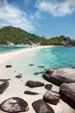 Praia bonita em Koh Tao, Tailândia Imagem de Stock Royalty Free