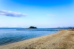 A praia bonita em Nha Trang, Vietname Imagens de Stock Royalty Free