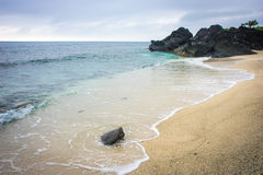 A praia bonita em Nha Trang, Vietname Foto de Stock