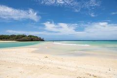 Praia bonita Fiji fotografia de stock