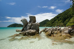 Praia bonita na ilha de Surin, Tailândia Fotos de Stock Royalty Free