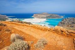 Praia bonita na lagoa de Balos, Creta Fotografia de Stock Royalty Free