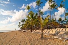 Praia bonita nas Caraíbas imagem de stock