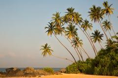 Praia bonita no console Fotografia de Stock Royalty Free