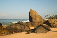 Praia bonita no console Imagens de Stock Royalty Free