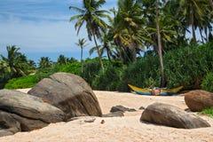 Praia bonita no console Imagem de Stock
