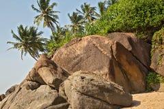 Praia bonita no console Imagem de Stock Royalty Free