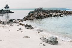 Praia bonita no console tropical Foto de Stock Royalty Free