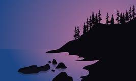 Praia bonita no nascer do sol Fotos de Stock Royalty Free