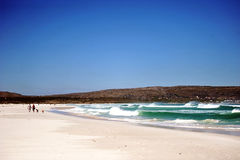 Praia branca Fotografia de Stock Royalty Free