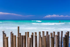 Praia branca Imagem de Stock