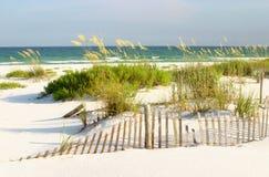 Praia branca da areia, golfo de México Fotografia de Stock