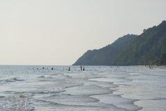 Praia branca da areia, koh chang, Tailândia Imagem de Stock