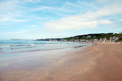 Praia branca das rochas Fotografia de Stock