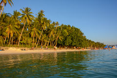 Praia branca famosa na ilha de Boracay, Filipinas imagem de stock royalty free