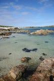 Praia branca Iona da areia imagens de stock