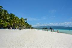 Praia branca na ilha de Boracay, Filipinas imagens de stock royalty free