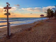 Praia Brasil da ressaca Foto de Stock